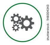 gear icon vector flat design... | Shutterstock .eps vector #548304343