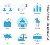 politics vector icons set | Shutterstock .eps vector #548309587