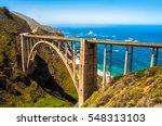 bixby bridge in big sur ... | Shutterstock . vector #548313103