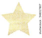 golden particles star... | Shutterstock .eps vector #548317807