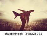 airplane aircraft travel trip | Shutterstock . vector #548325793