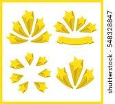 yellow stars. a set of stars.... | Shutterstock . vector #548328847