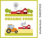organic products. agriculture... | Shutterstock . vector #548329333