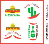 mexican food logo. mexican fast ... | Shutterstock . vector #548332213