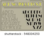 art nouveau vector font from... | Shutterstock .eps vector #548334253