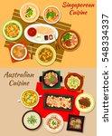 singaporean and australian... | Shutterstock .eps vector #548334337