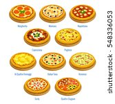 pizzeria menu elements. vector... | Shutterstock .eps vector #548336053