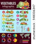 healthy vegetables infographic... | Shutterstock .eps vector #548336347