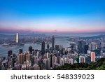 night view from victoria peak... | Shutterstock . vector #548339023