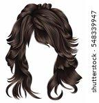 trendy woman long hairs... | Shutterstock .eps vector #548339947
