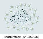 cloud computing concept | Shutterstock .eps vector #548350333