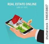 real estate online sale or rent ... | Shutterstock .eps vector #548353807