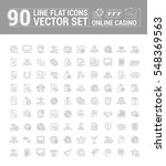 vector graphic set of icons in... | Shutterstock .eps vector #548369563
