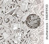 cartoon cute doodles hand drawn ... | Shutterstock .eps vector #548395933