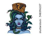 vector color mythology medusa... | Shutterstock .eps vector #548396107