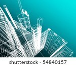 abstract modern architecture | Shutterstock . vector #54840157