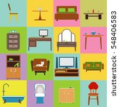 furniture icon set flat design... | Shutterstock .eps vector #548406583