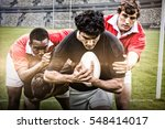 rugby fans in arena against... | Shutterstock . vector #548414017