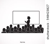 business team seminar listening ... | Shutterstock .eps vector #548423827