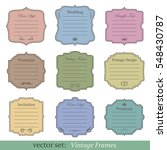 vector set of vintage frames on ... | Shutterstock .eps vector #548430787