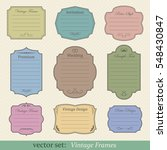 vector set of vintage frames on ... | Shutterstock .eps vector #548430847