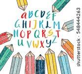 unique vector alphabet. modern...   Shutterstock .eps vector #548444263