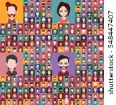 huge set of different avatars | Shutterstock .eps vector #548447407