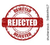 rejected red stamp with grunge... | Shutterstock .eps vector #548449417