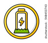 battery life. lightning and eco ... | Shutterstock .eps vector #548453743