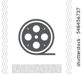 film reel icon  | Shutterstock .eps vector #548456737