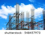 construction steel rebar at... | Shutterstock . vector #548457973