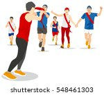 ekiden marathon was born in... | Shutterstock .eps vector #548461303