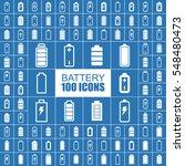 battery  accumulator  power and ... | Shutterstock .eps vector #548480473