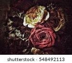 grunge flower background texture | Shutterstock . vector #548492113