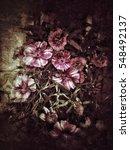 grunge flower background texture | Shutterstock . vector #548492137