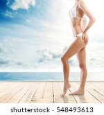 closeup of sexy and sporty... | Shutterstock . vector #548493613