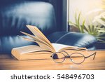 Closeup Of Reading Glasses Wit...