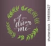 """do you dream of me""  ... | Shutterstock .eps vector #548500627"