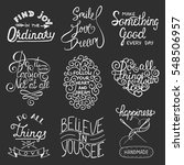 set of inspirational and... | Shutterstock . vector #548506957