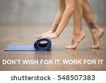 fit woman with beautiful tattoo ...   Shutterstock . vector #548507383