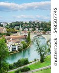 Small photo of View of Bern Switzerland with the Aare River in the foreground