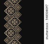 golden frame in oriental style. ...   Shutterstock .eps vector #548508097