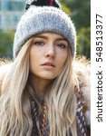 portrait of a beautiful blonde... | Shutterstock . vector #548513377