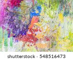 Colorful  Abstract Oil Paintin...