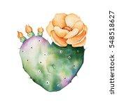 Watercolor Handpainted Cactus...