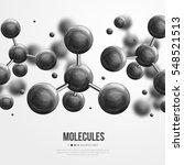 abstract molecules design.... | Shutterstock .eps vector #548521513
