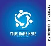 social relationship logo and... | Shutterstock .eps vector #548526853