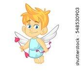 funny cupid cartoon character... | Shutterstock .eps vector #548530903