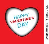 valentines day card design | Shutterstock .eps vector #548532433