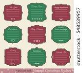vector set of vintage christmas ... | Shutterstock .eps vector #548539957